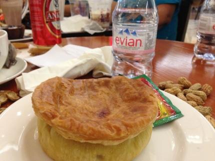 A hearty pie, it is.