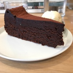 Beautiful piece of Chocolate Cake